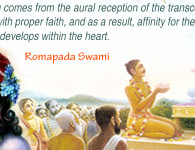 romapada swami on fruit of hearing