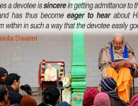 romapada swami on Krishna reciprocating to sincere devotee who is eager to hear about Him