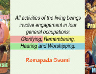 romapada swami on the four activities of human beings