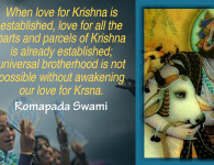 romapada swami on love for krishna