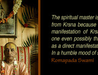 romapada swami on service of spiritual master