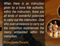 romapada swami on Potency of Instruction