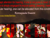 romapada swami on attaining purity