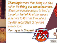 Romapada Swami on Chanting spiritualizes our day