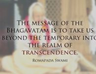 Romapada Swami on Message of Bhagavatam