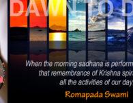 Romapada Swami on Spiritualizing our day